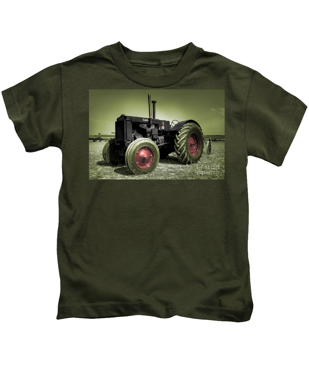 Case Kids T-Shirt featuring the photograph Vintage Case by Rob Hawkins