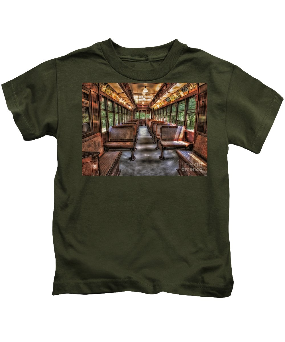 Number Kids T-Shirt featuring the photograph Vintage Trolley No. 948 by Susan Candelario