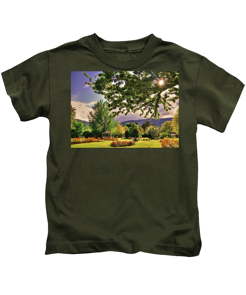 Colorful Kids T-Shirt featuring the photograph Waiting For The Roses To Bloom by Eti Reid