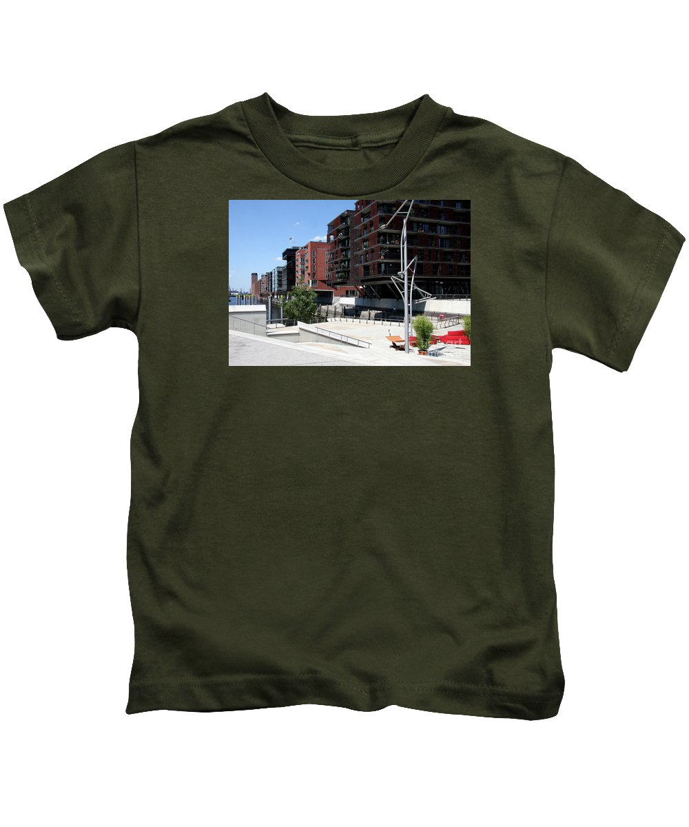Warehouse District Kids T-Shirt featuring the photograph Warehouse District Hamburg by Christiane Schulze Art And Photography