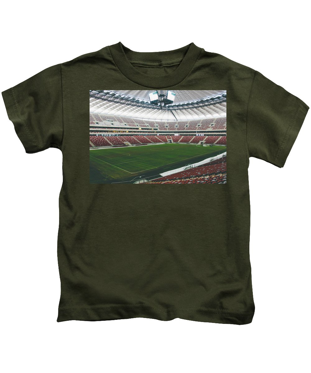 Poland Kids T-Shirt featuring the photograph Warsaw Stadion by Pati Photography