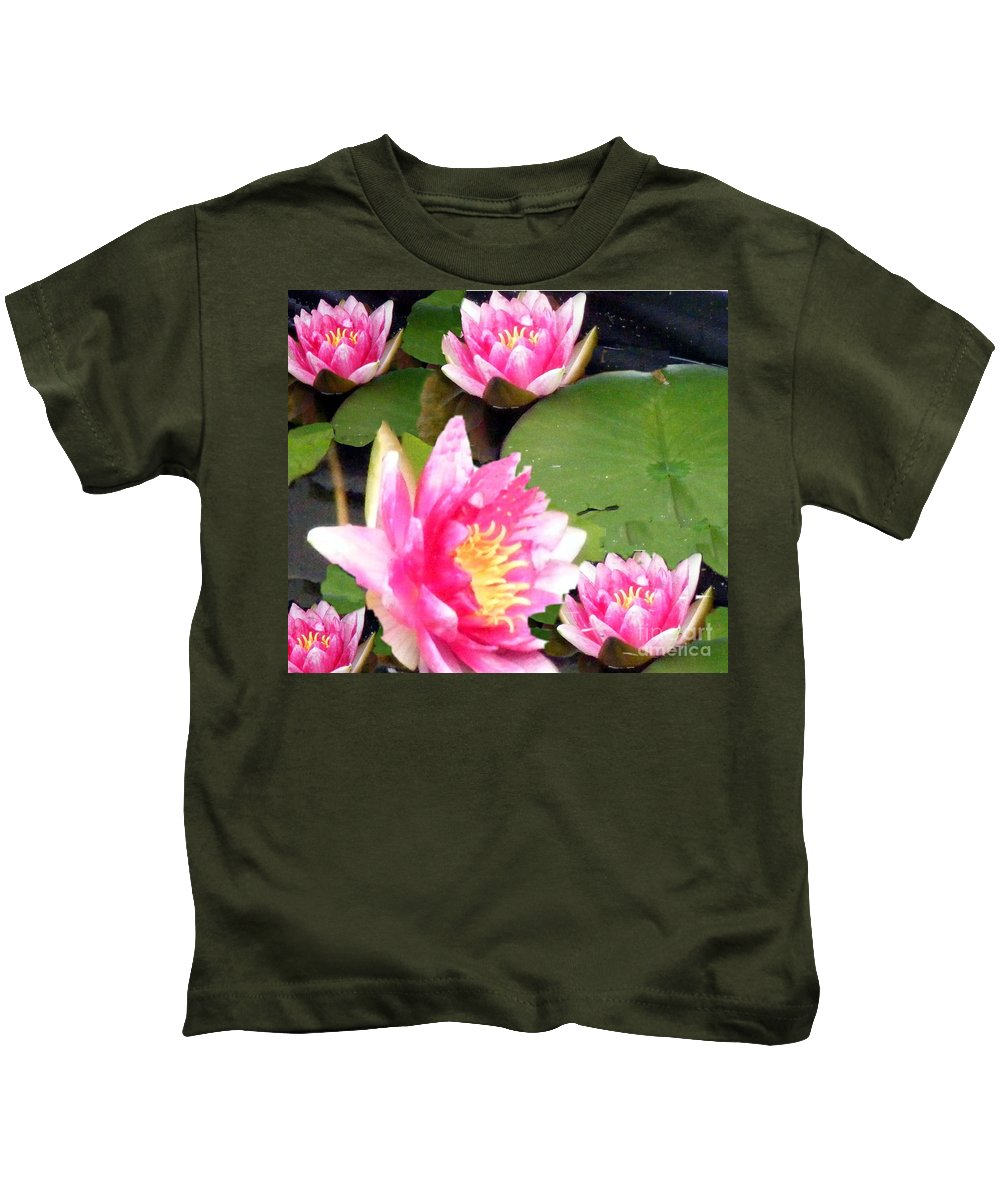 Water Lilies Kids T-Shirt featuring the photograph Water Lilies by Barbara Griffin