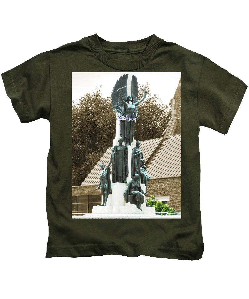 Citizens Kids T-Shirt featuring the photograph We Will Never Fall by Steve Taylor