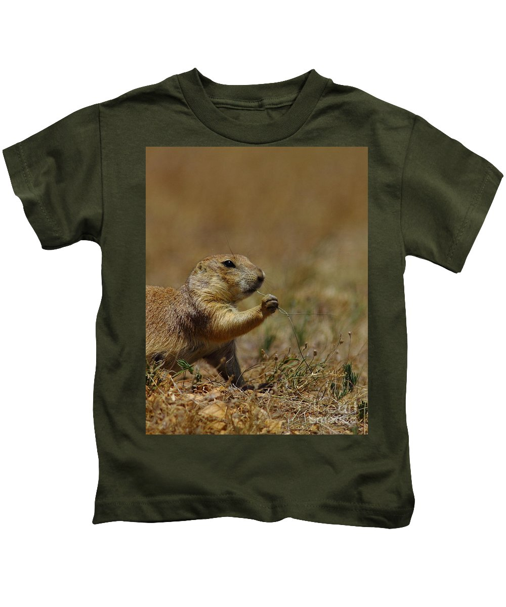 Prairie Dog Kids T-Shirt featuring the photograph Well I Reckon So by Robert Frederick