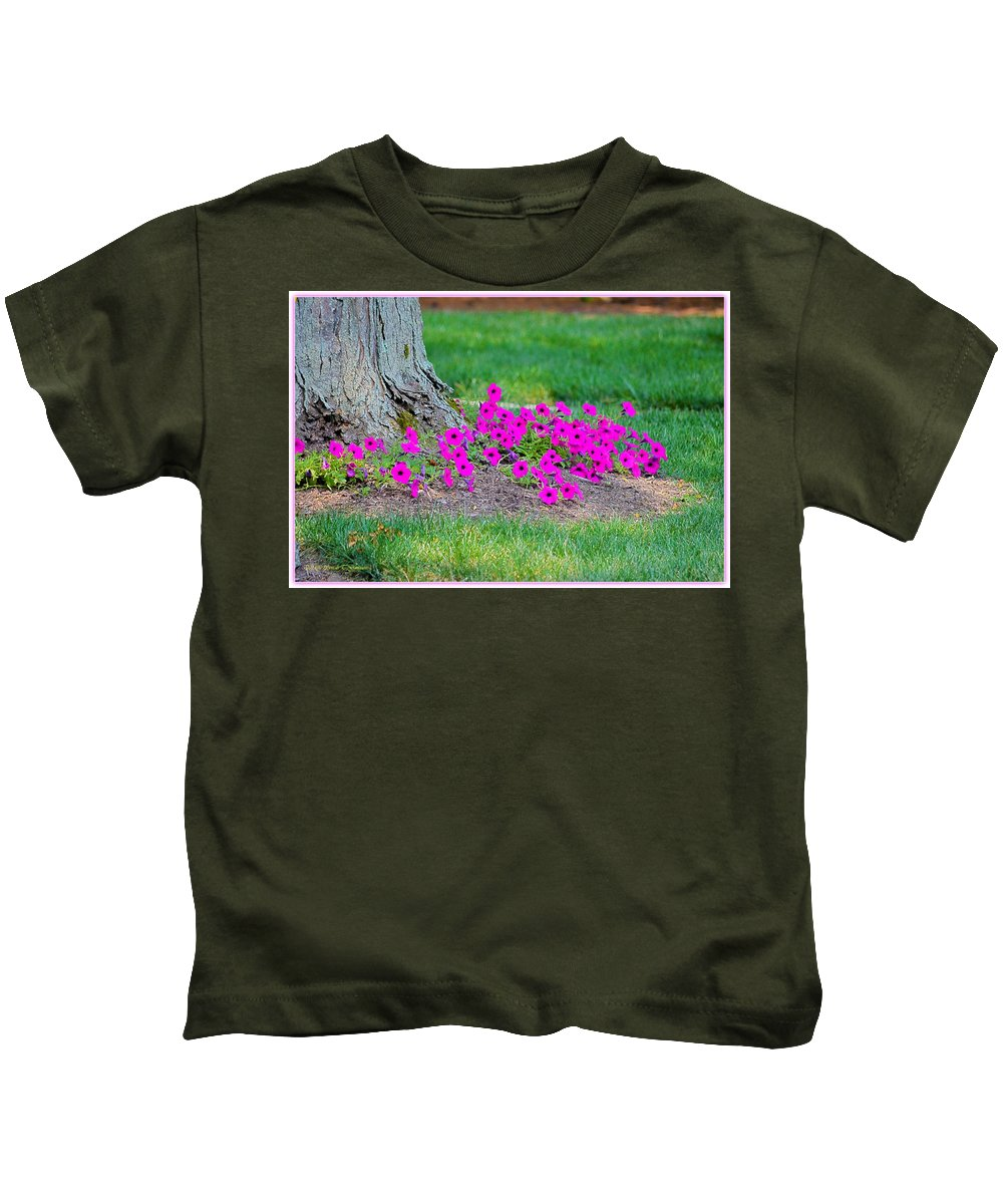 Where Petunia Grows Kids T-Shirt featuring the photograph Where Petunia Grows by Sonali Gangane