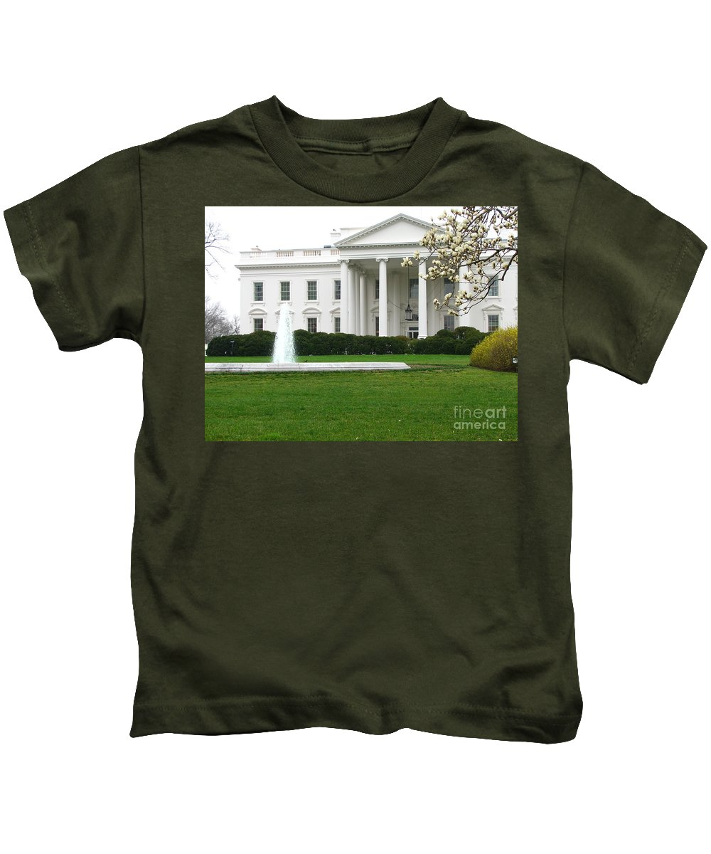 White House Kids T-Shirt featuring the photograph White House by DejaVu Designs