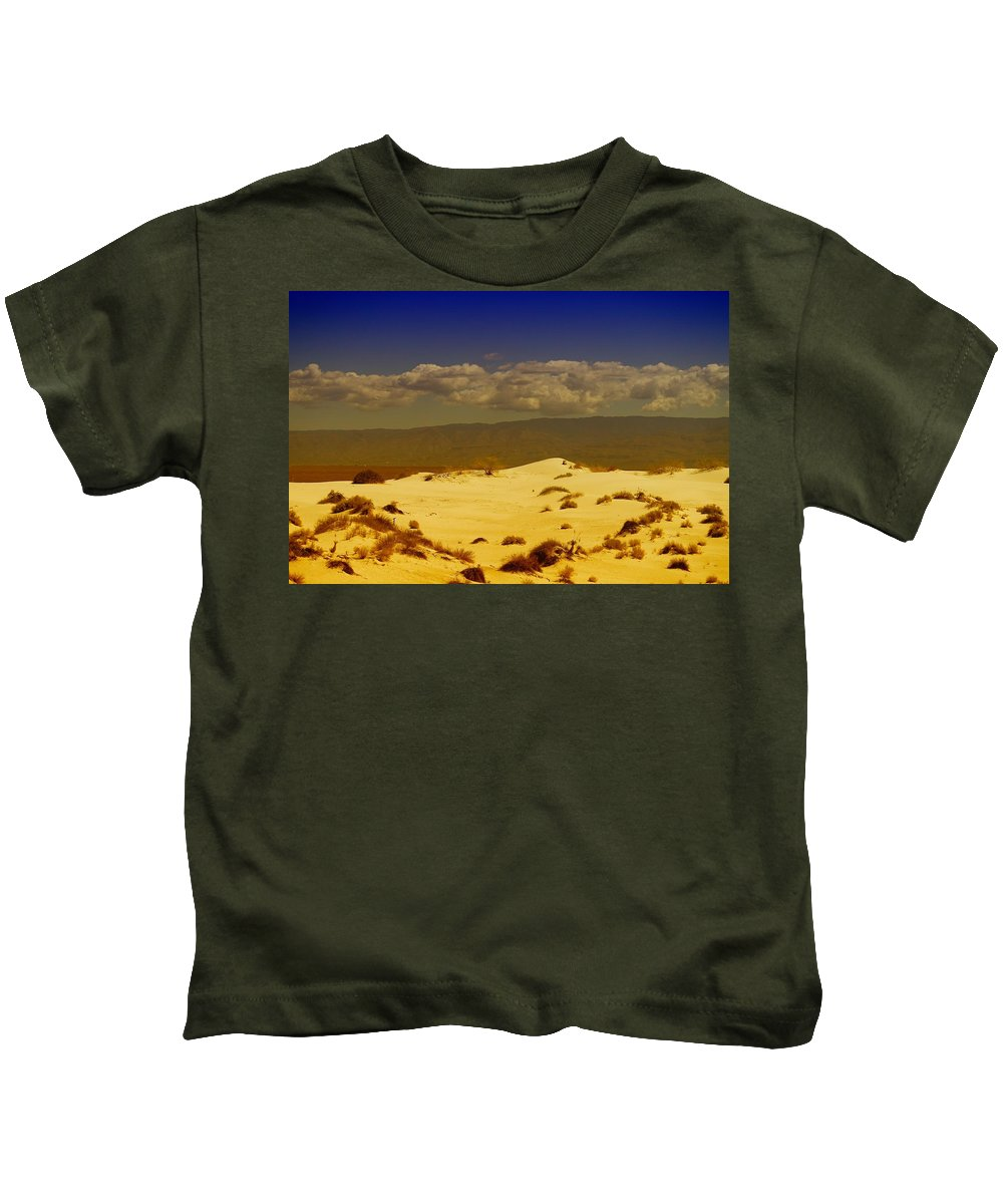 White Sands New Mexico Kids T-Shirt featuring the photograph White Sands New Mexico by Jeff Swan