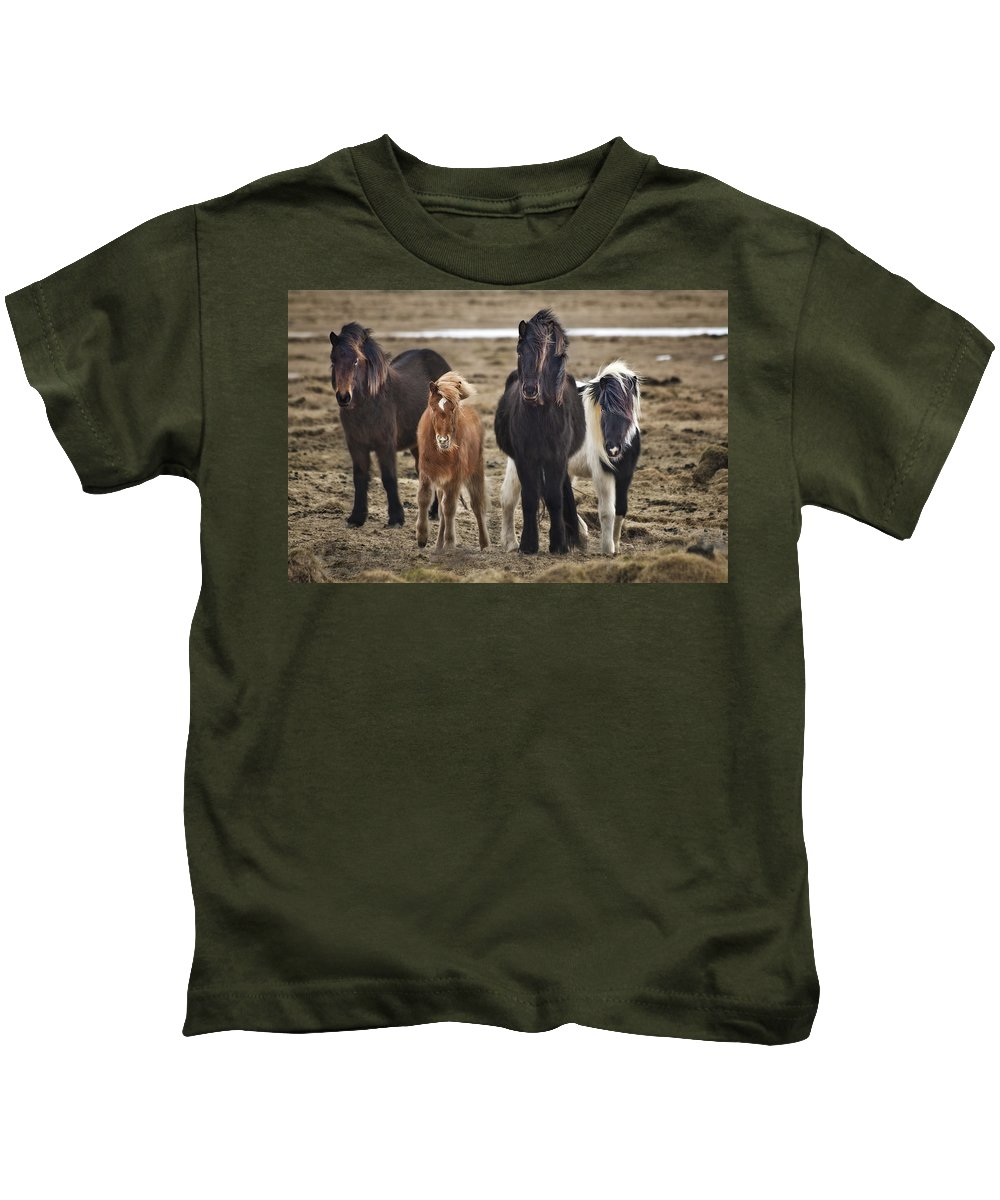Iceland Kids T-Shirt featuring the photograph Wild And Free by Evelina Kremsdorf