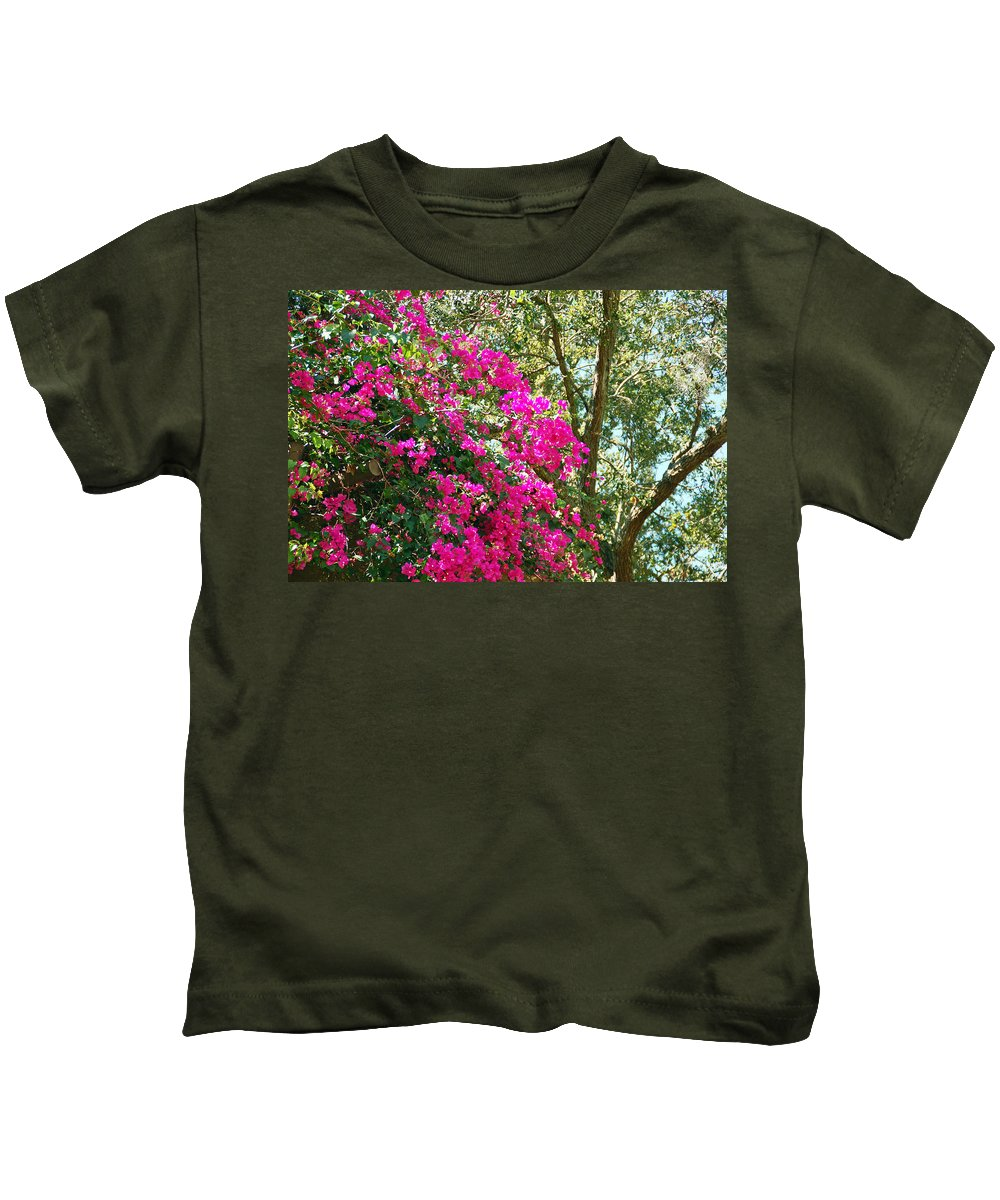 Bougainvillea Kids T-Shirt featuring the photograph Wild Bougainvillea by Aimee L Maher ALM GALLERY