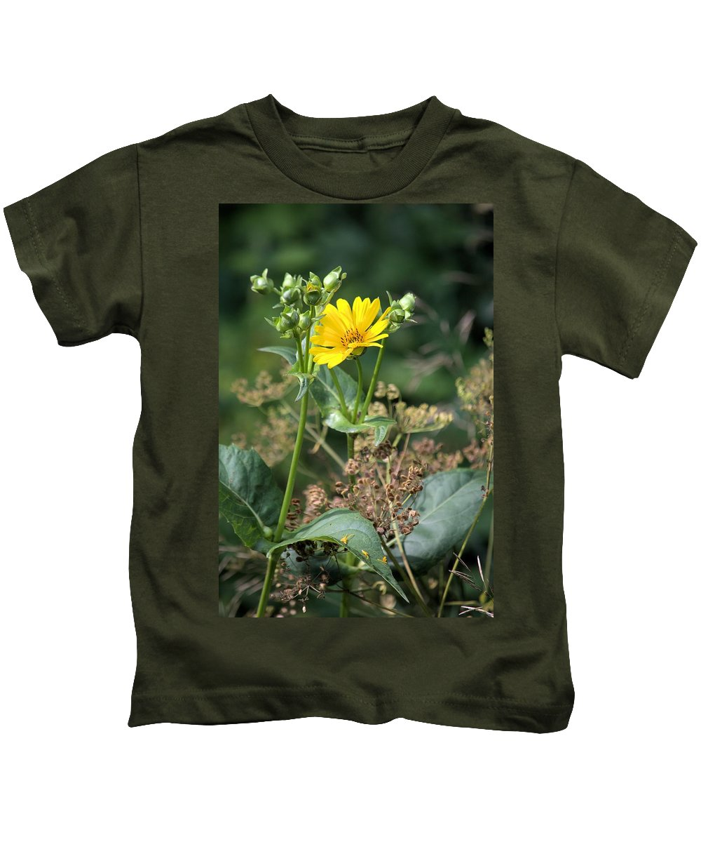 Flower Kids T-Shirt featuring the photograph Wild Yellow by Bonfire Photography