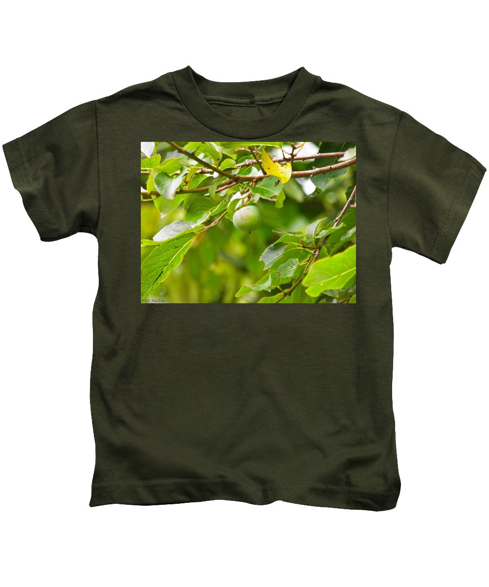 Green Kids T-Shirt featuring the photograph Wine Anyone by Nick Kirby