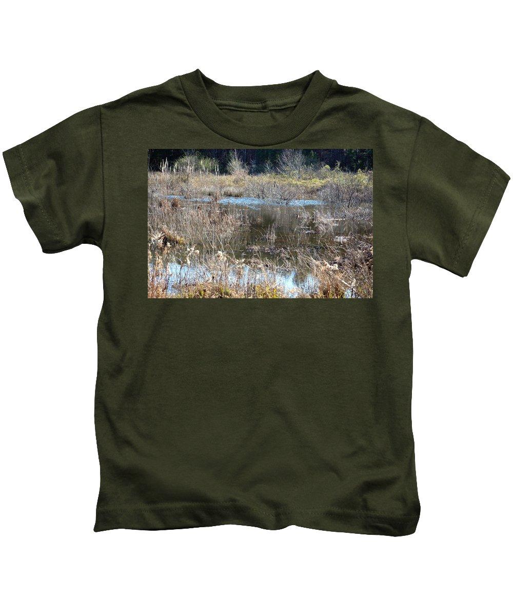 Winter Wetlands Of Alabama Kids T-Shirt featuring the photograph Winter Wetlands Of Alabama by Maria Urso