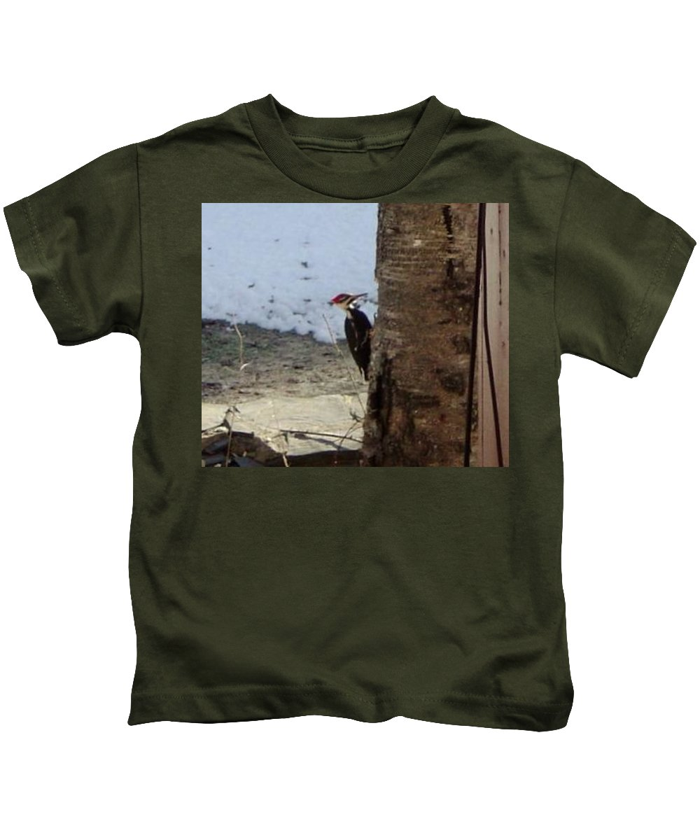 Kids T-Shirt featuring the photograph Woody And The Old Birch by Brian S Boucher