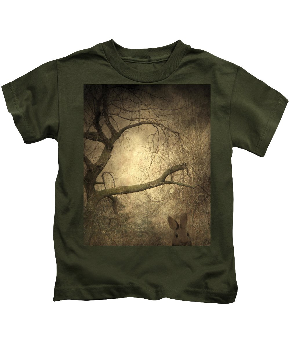Forest Kids T-Shirt featuring the photograph Year Of The Rabbit by Gothicrow Images