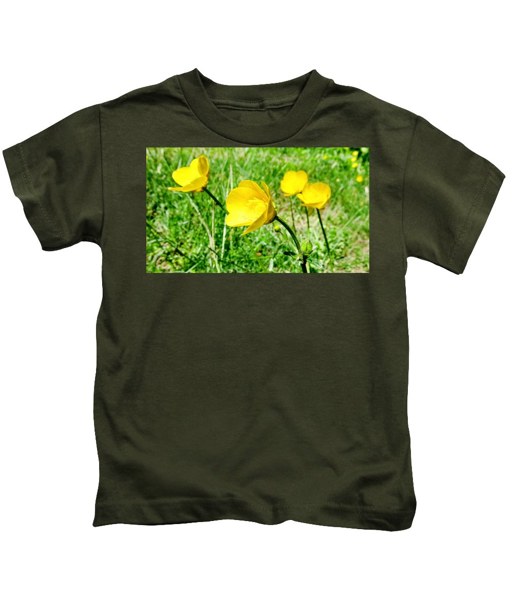 Flower Kids T-Shirt featuring the photograph You Like Butter by Art Dingo