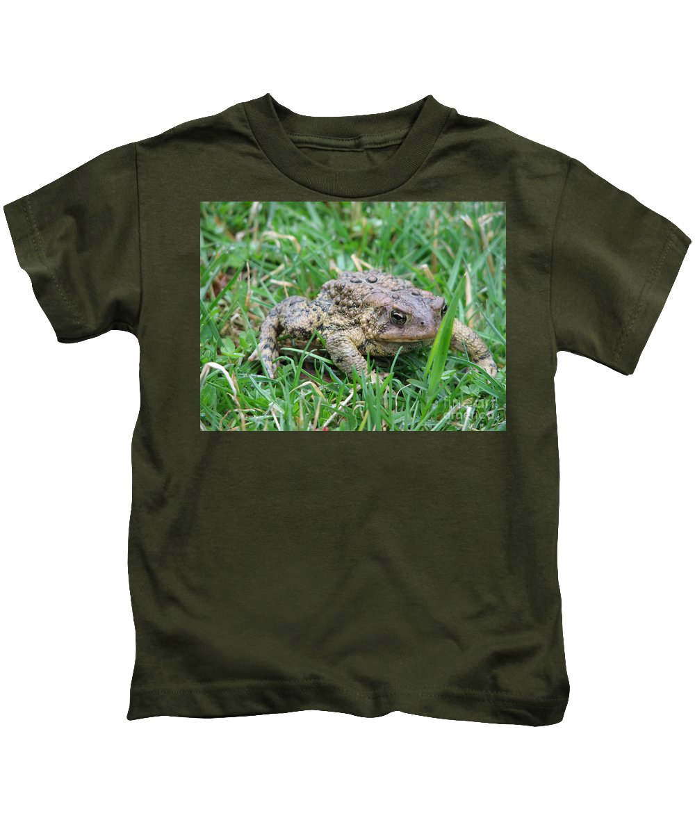 Toad Kids T-Shirt featuring the photograph You Talkin To Me by Stacey May