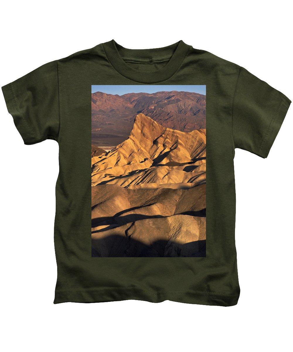 Zabriske Point Sunrise Kids T-Shirt featuring the photograph Zabriske Point Sunrise by Wes and Dotty Weber
