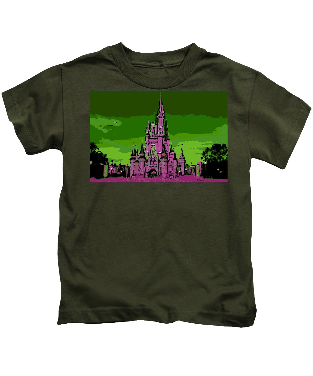 Disney World Kids T-Shirt featuring the photograph Castle Of Dreams by George Pedro