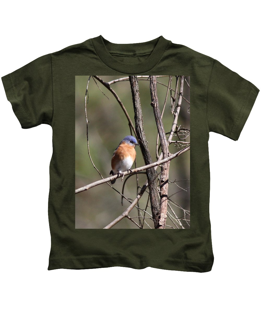 Blue Kids T-Shirt featuring the photograph Sucarnoochee River - Bluebird by Travis Truelove