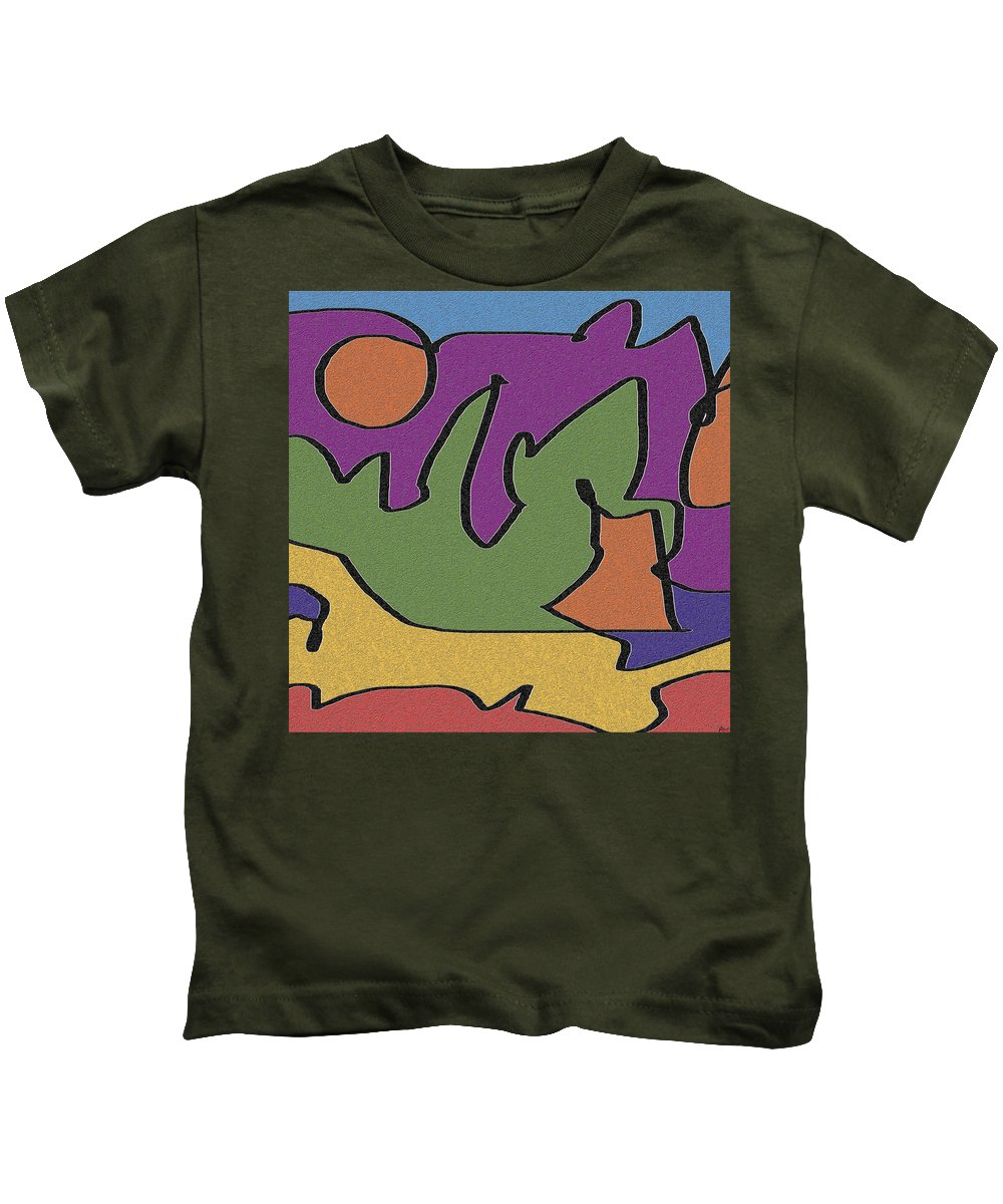 Abstract Kids T-Shirt featuring the digital art 0638 Abstract Thought by Chowdary V Arikatla