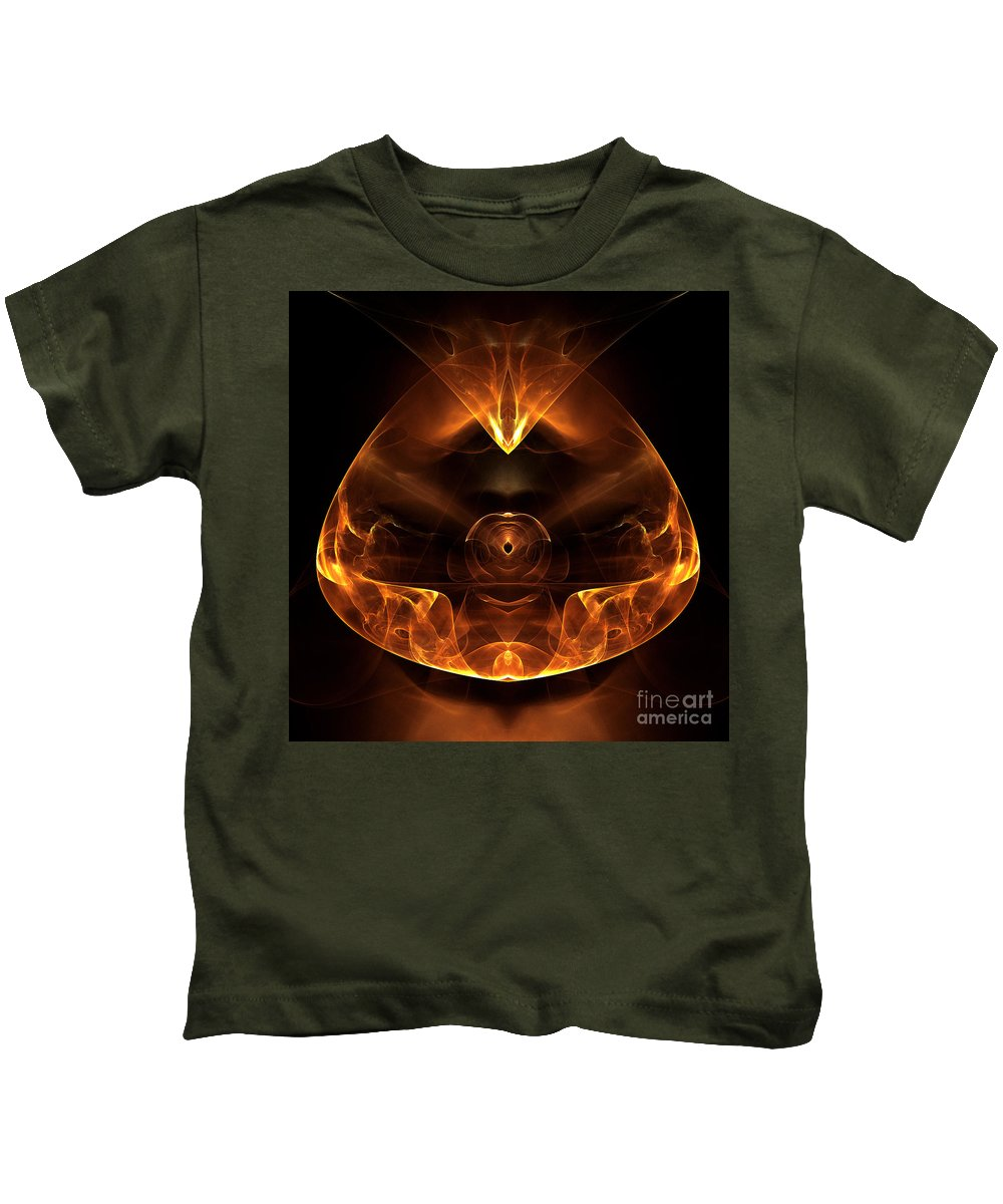 Fractal Digital Art Kids T-Shirt featuring the photograph Abstract Sixty-six by Mike Nellums