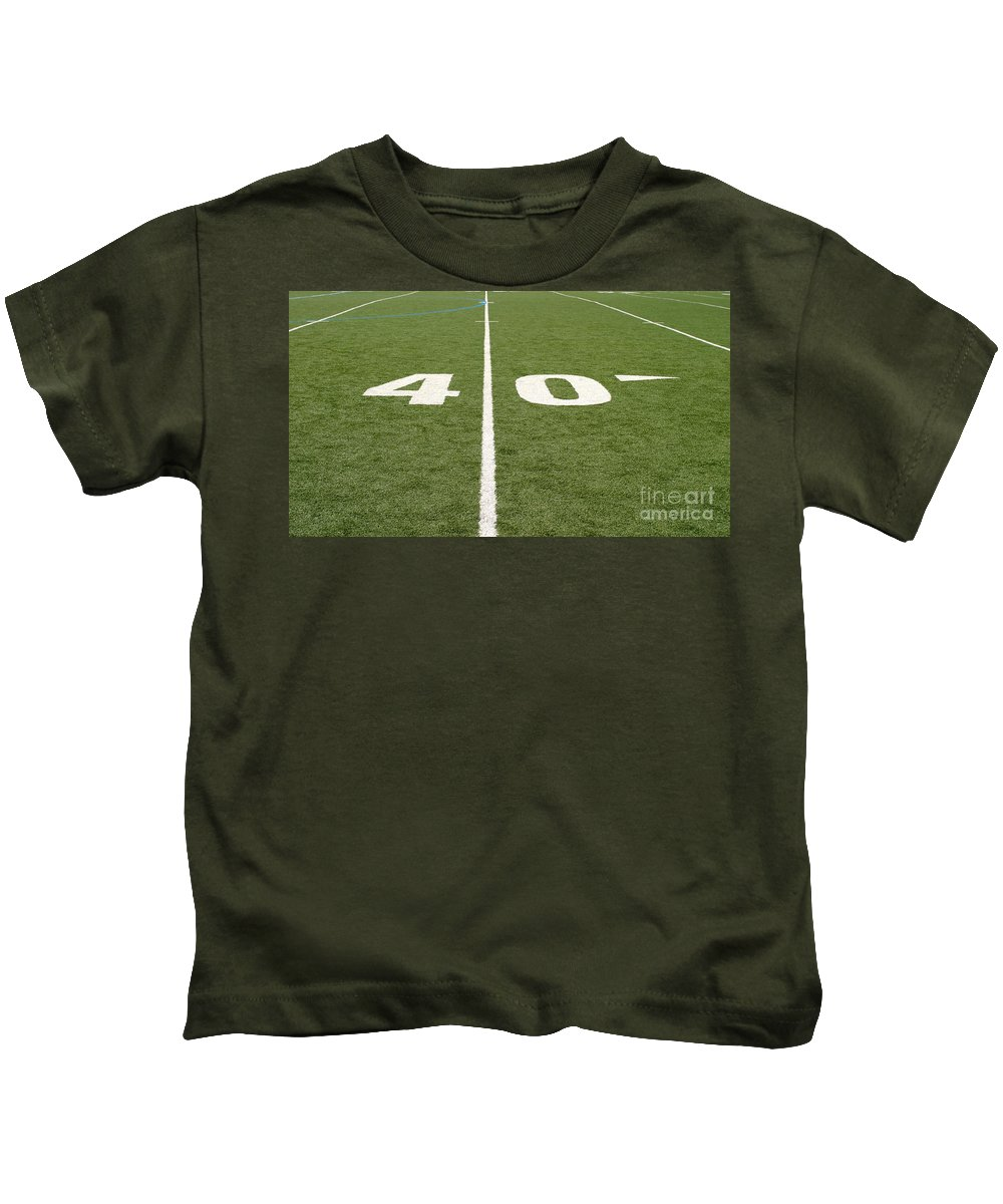 American Kids T-Shirt featuring the photograph Football Field Forty by Henrik Lehnerer
