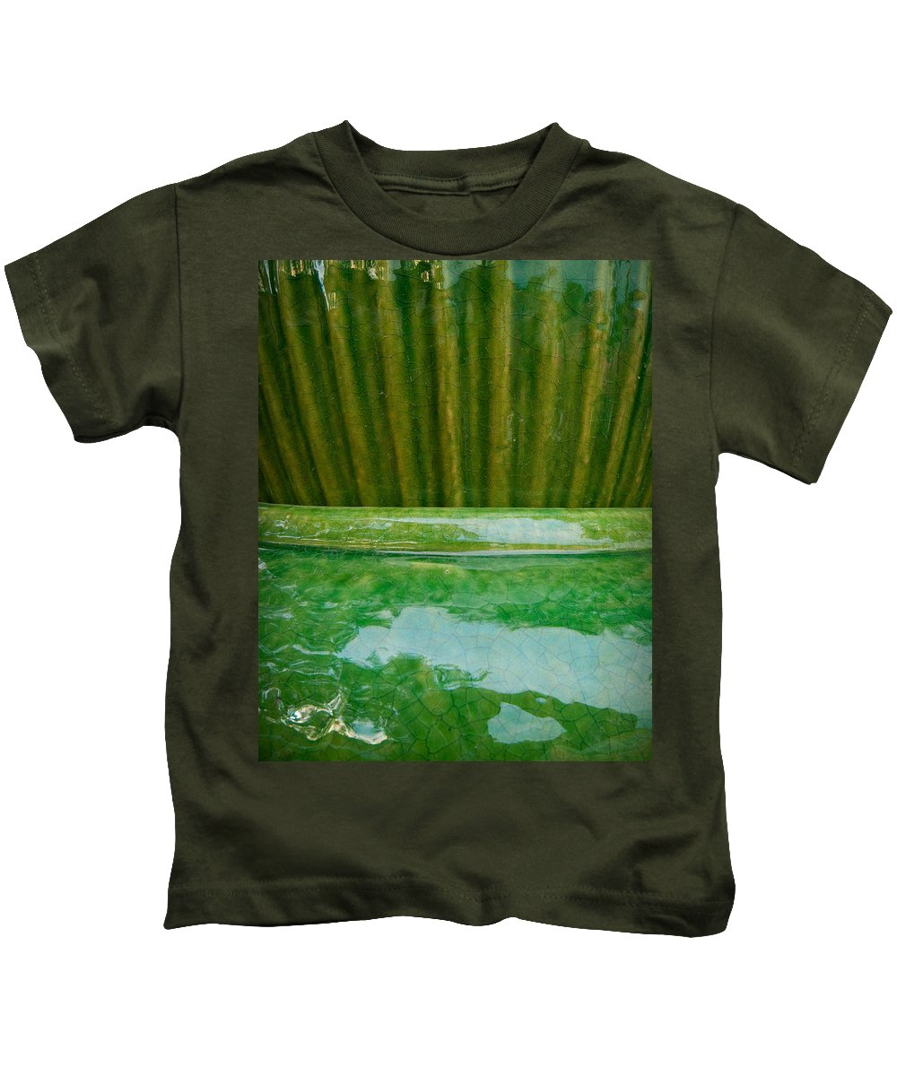 Abstract Kids T-Shirt featuring the photograph Green Pottery by Sean Wray