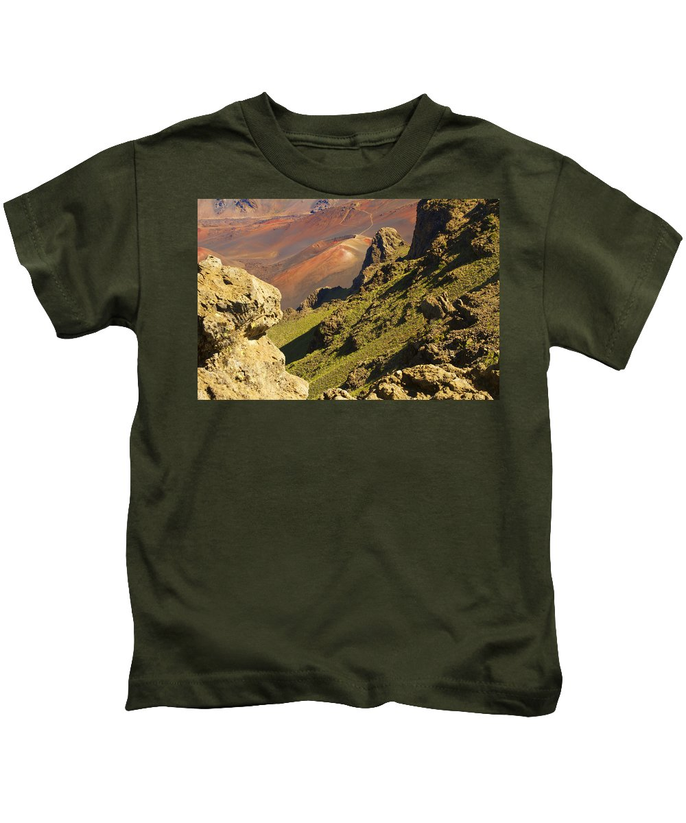 Altitude Kids T-Shirt featuring the photograph Haleakala National Park by Ron Dahlquist - Printscapes