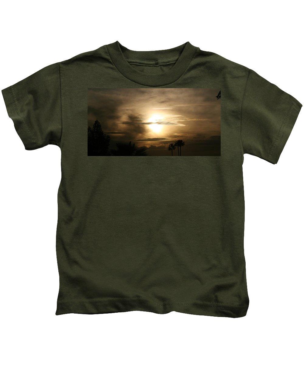 Night Kids T-Shirt featuring the photograph Smokey Dusk by Louise Mingua