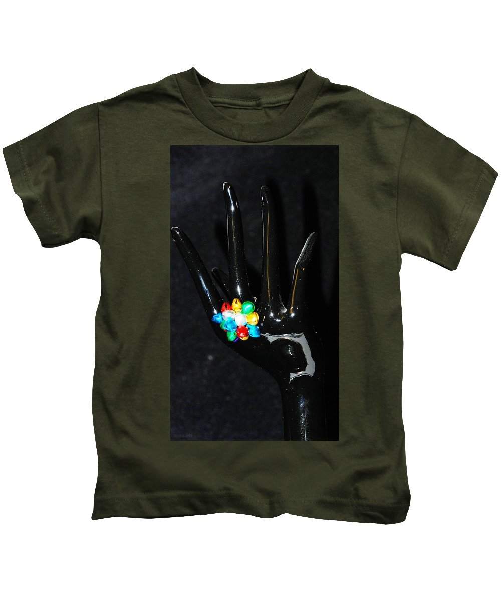Hand Kids T-Shirt featuring the photograph The Black Hand by Rob Hans