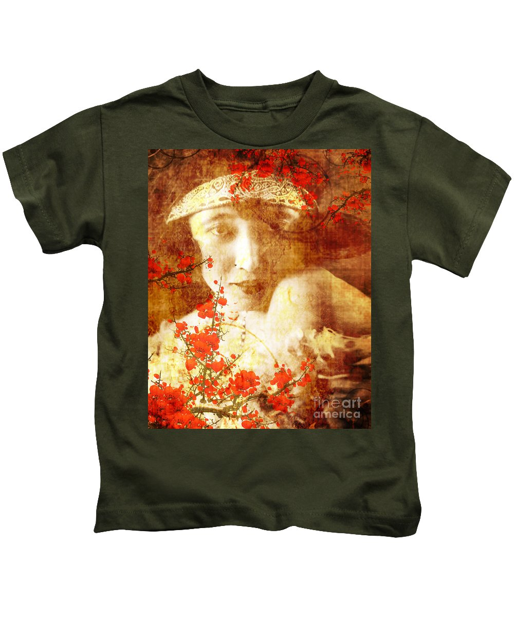 Nostalgic Seduction Kids T-Shirt featuring the photograph Winsome Women by Chris Andruskiewicz