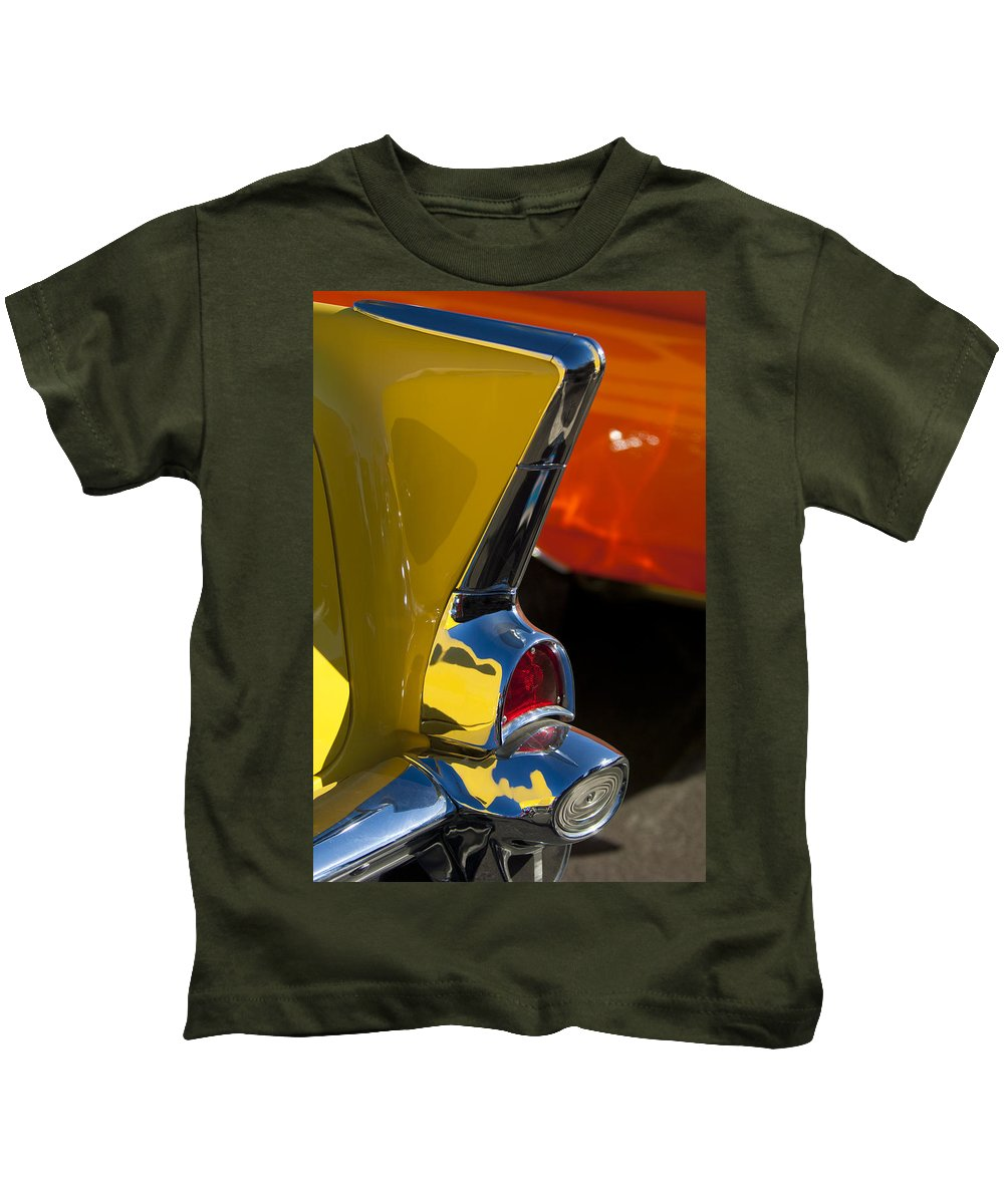 1957 Chevrolet Kids T-Shirt featuring the photograph 1957 Chevrolet Taillight by Jill Reger