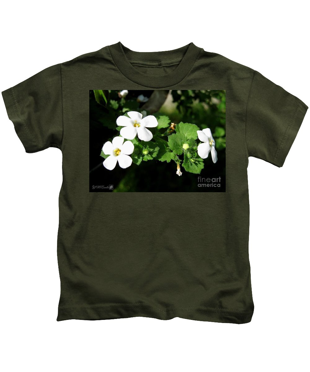 Bacopa Kids T-Shirt featuring the photograph Bacopa Named Snowtopia by J McCombie