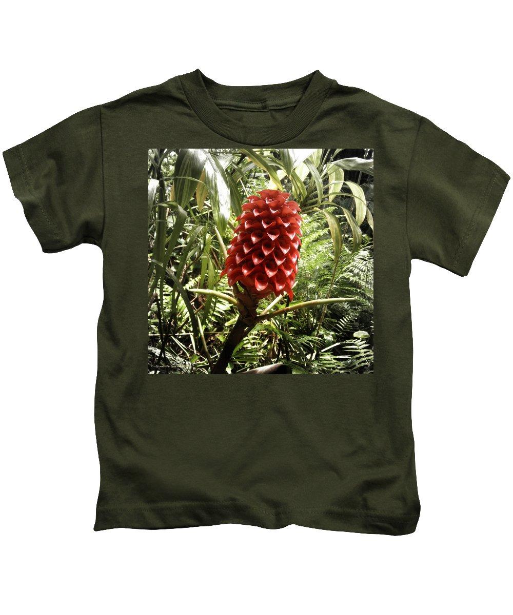 Flowers Kids T-Shirt featuring the photograph Tropical Flower by Gina De Gorna