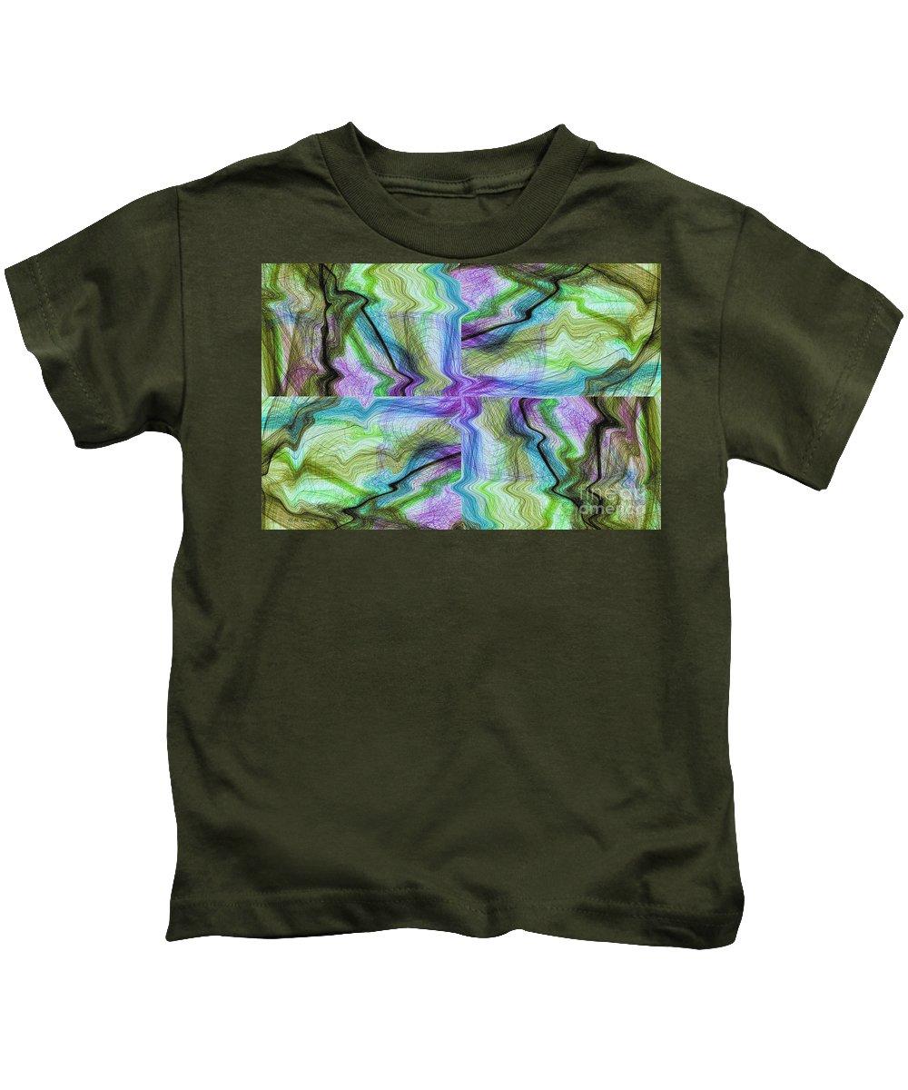 Abstract Art Kids T-Shirt featuring the digital art Abstract 10 by Deborah Benoit