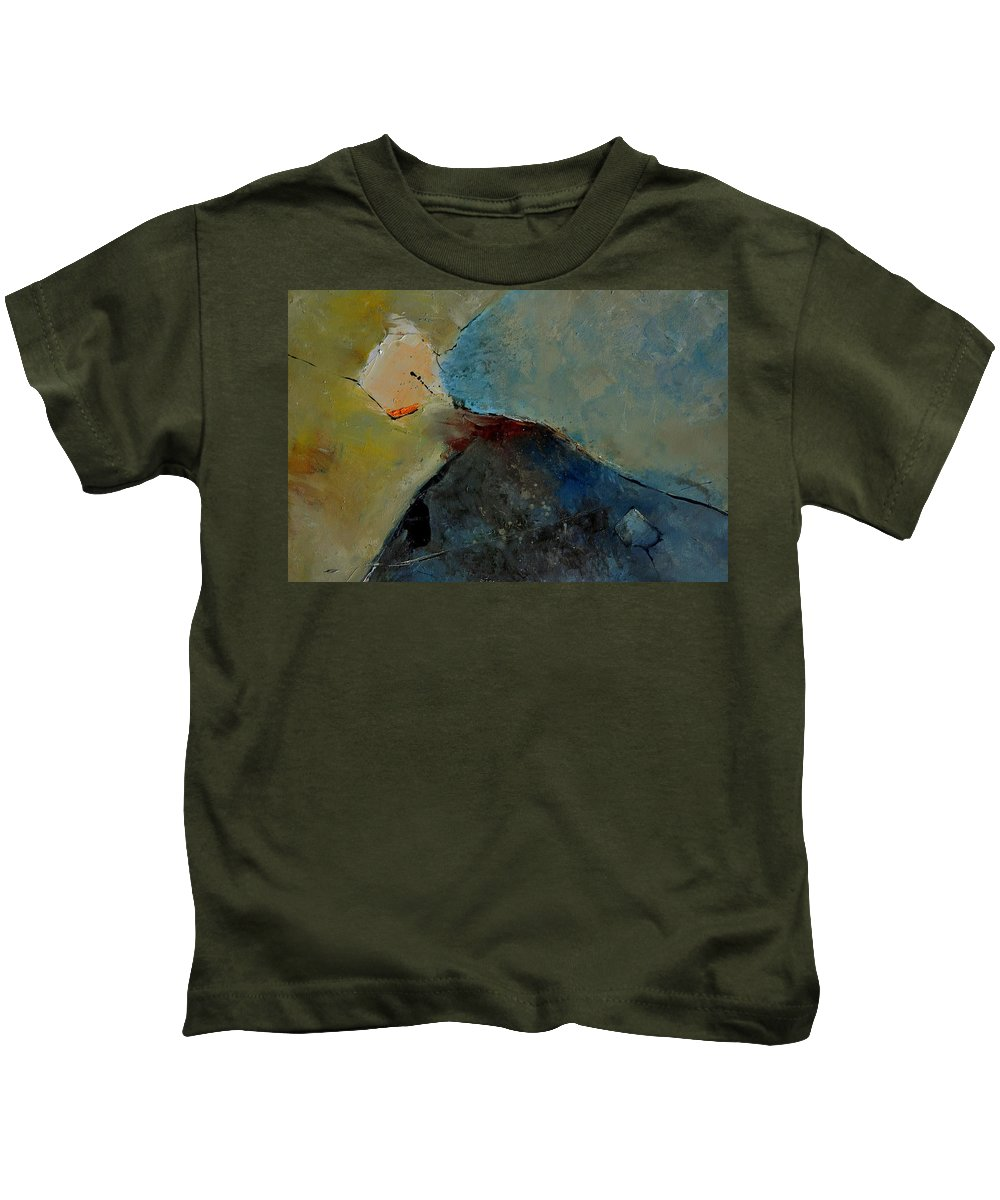 Abstract Kids T-Shirt featuring the painting Abstract 170006 by Pol Ledent