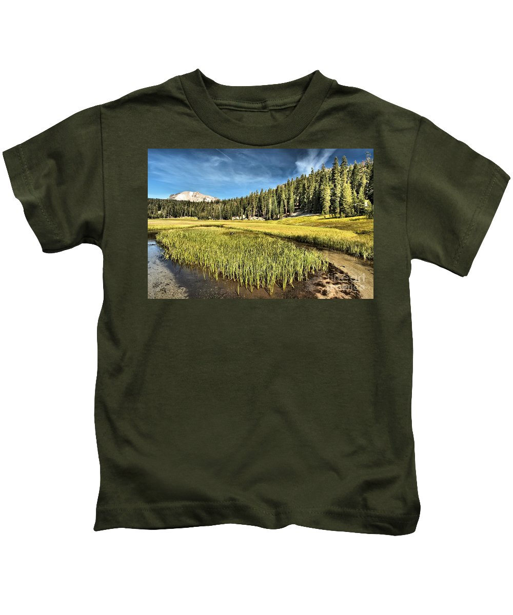Lassen Kids T-Shirt featuring the photograph Across The Meadow by Adam Jewell