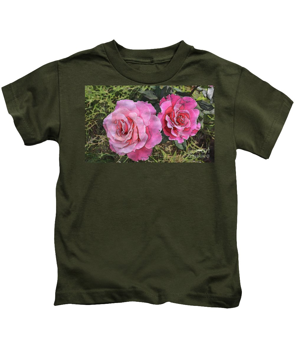 After The Summer Rain Kids T-Shirt featuring the digital art After The Summer Rain Watercolor by Barbara Griffin