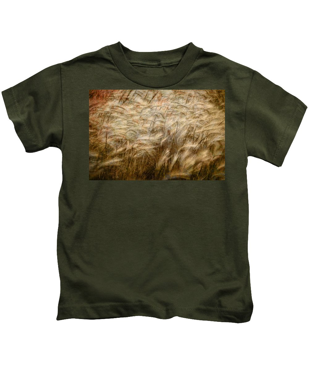 Art Kids T-Shirt featuring the photograph Amber Waves Of Grain by Randall Nyhof