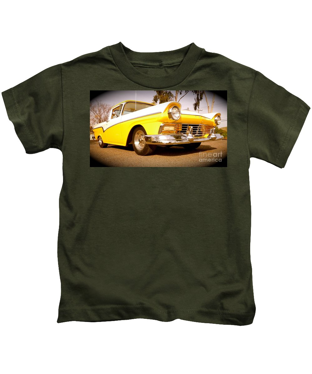Ford Kids T-Shirt featuring the photograph American Attitude by Customikes Fun Photography and Film Aka K Mikael Wallin
