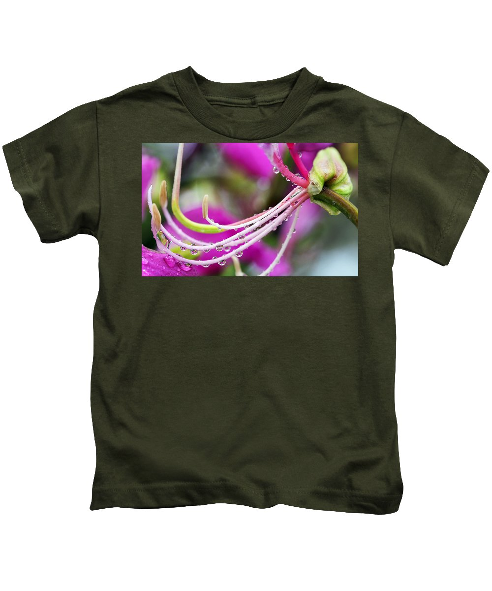 Amherstia Kids T-Shirt featuring the photograph Amherstia Nobilis 3 by Marilyn Hunt