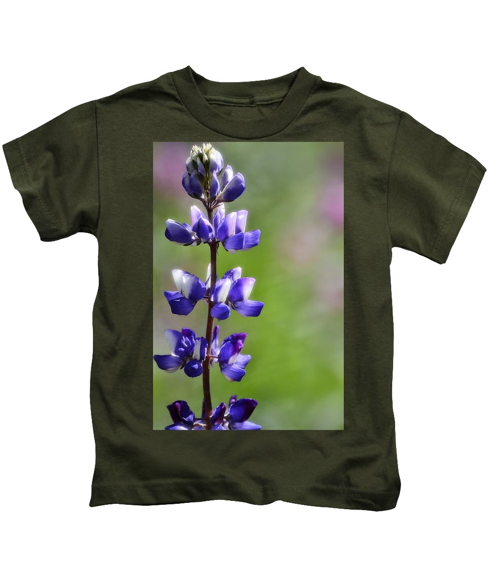 Arroyo Lupine Kids T-Shirt featuring the photograph Arroyo Lupine by Saija Lehtonen