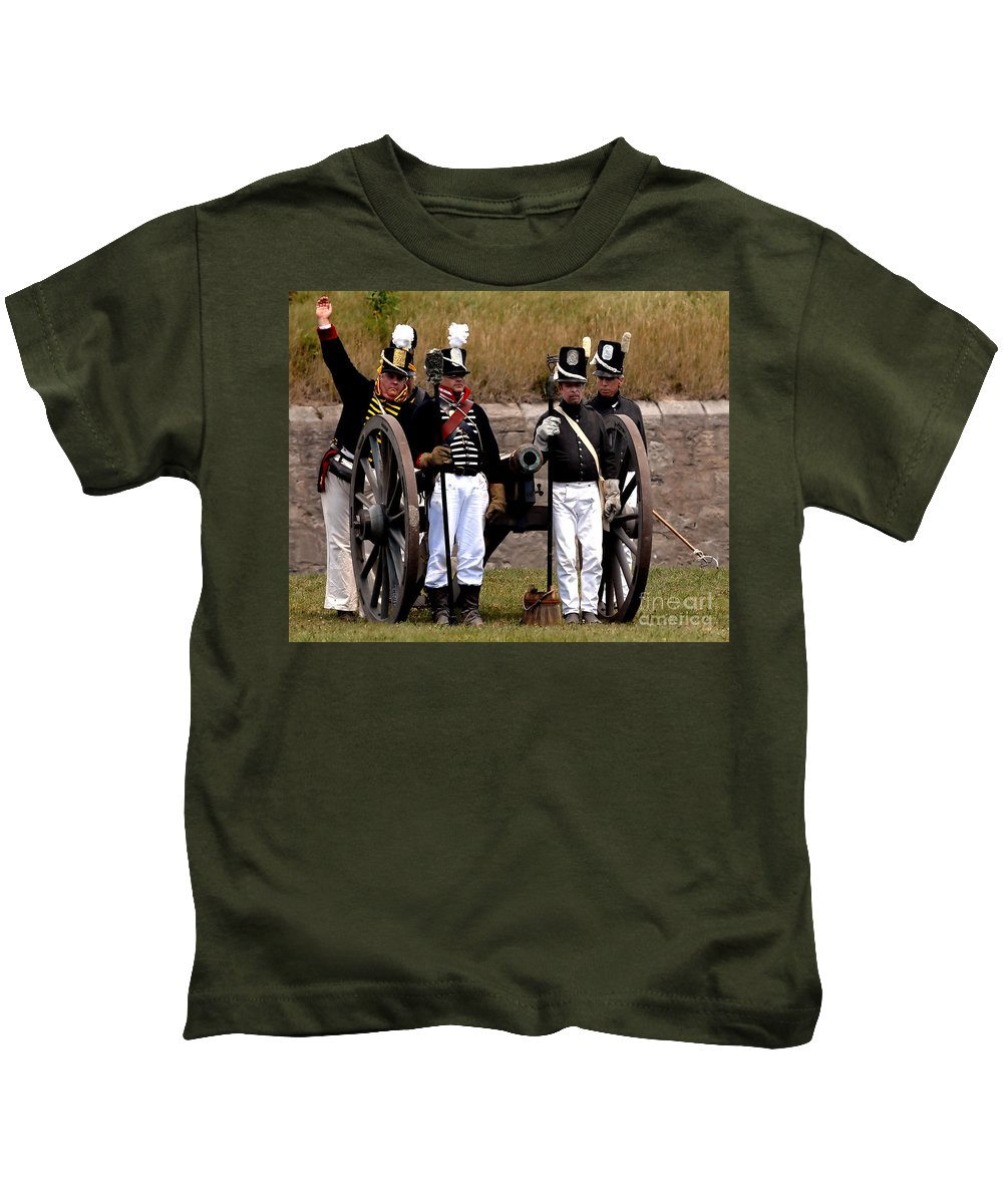 Artillery Kids T-Shirt featuring the photograph Artillery by JT Lewis