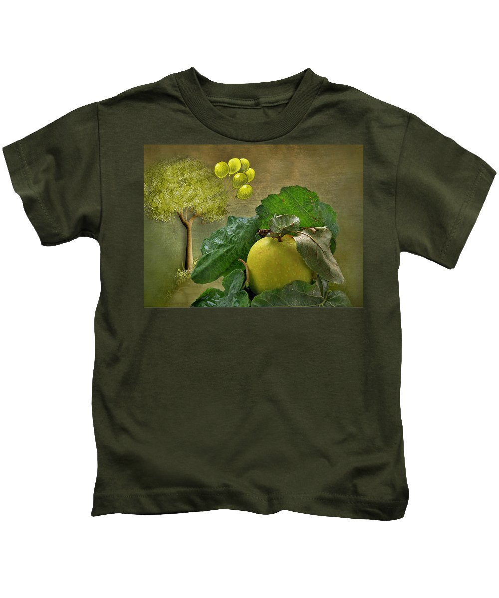 Apple.apples Kids T-Shirt featuring the photograph Autumn Apple by Manfred Lutzius