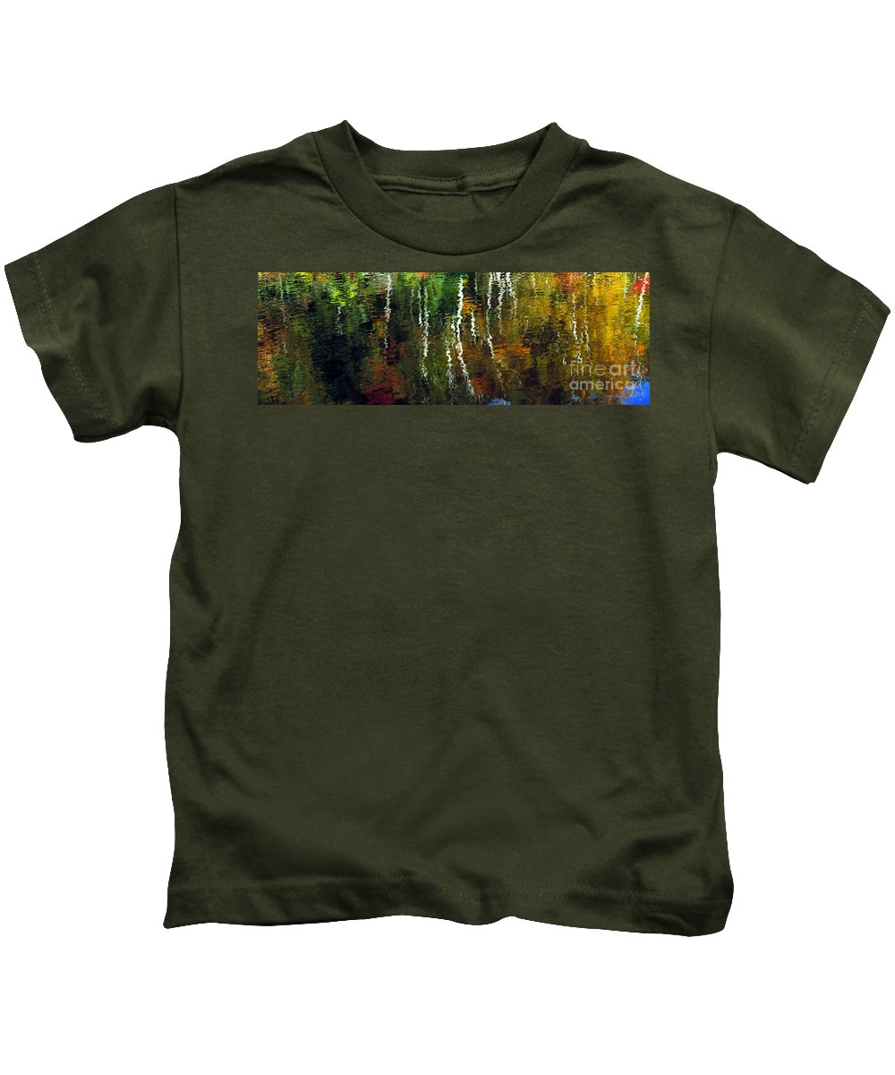 Autumn Kids T-Shirt featuring the photograph Autumn Reflections 1 by Mike Nellums