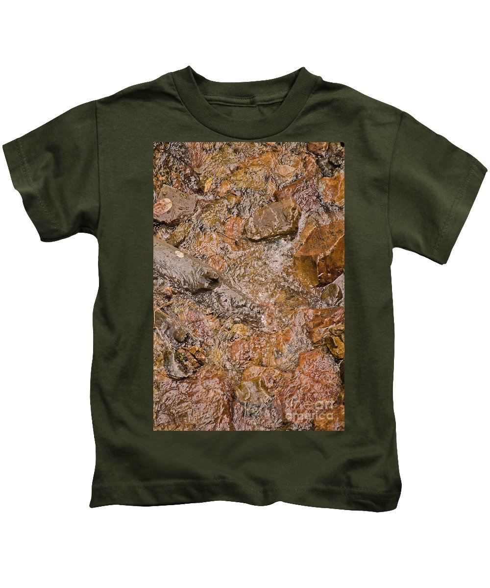 Water Kids T-Shirt featuring the photograph Babbling Brook by Donna Greene