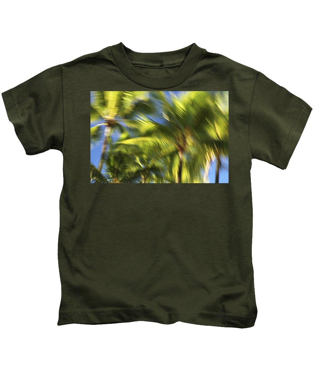 Abstract Kids T-Shirt featuring the photograph Balm Tree Blur by Vince Cavataio - Printscapes
