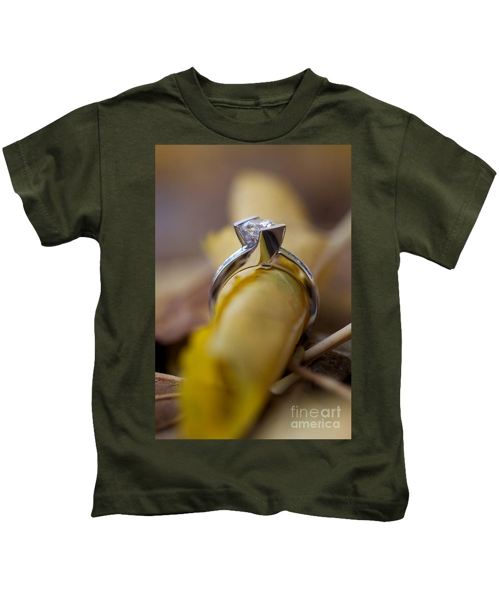 Solitaire Diamond Kids T-Shirt featuring the photograph Beautiful Engagement Four by Brooke Roby