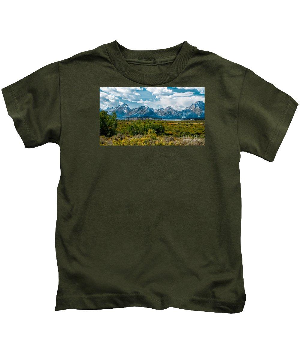Grand Tetons Kids T-Shirt featuring the photograph Beautiful Tetons by Robert Bales