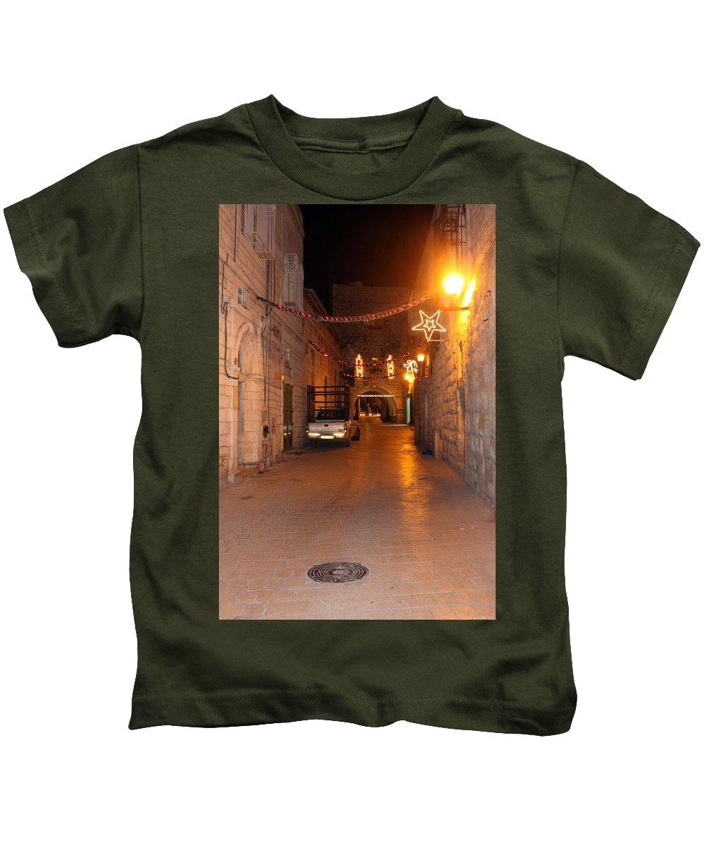 Street Kids T-Shirt featuring the photograph Bethlehem Star At Night by Munir Alawi
